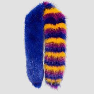 Zara faux fur stripe stole